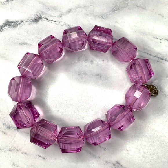 Tarina Tarantino Purple Classic Lucite Bracelet